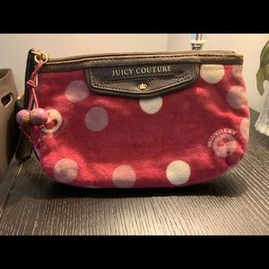 Juicy Couture Velour small bag with wrist strap